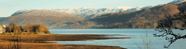 The Old Manse Guest House has superb sea views looking south across Loch Carron.